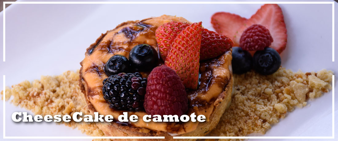 Cheescake de camote